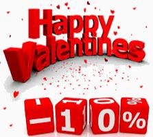 Скидку 10% ко дню святого Валентина