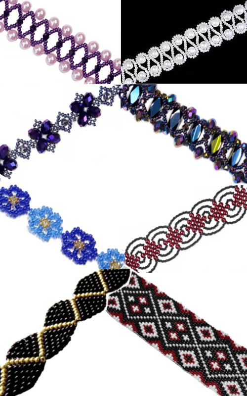 Схема плетения чокера: украшения из бисера - ЭтноБохо 24