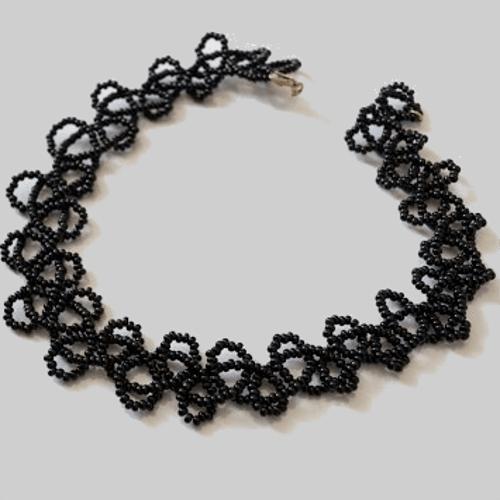 Схема плетения чокера на шею из бисера